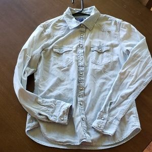 American eagle demin long sleeve button down small